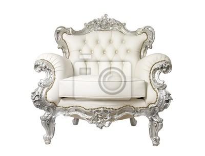 Fototapeta Luksusowy fotel samodzielnie na białym tle