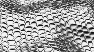 Fototapeta Luksusowy srebny tło z rzemienną teksturą. 3d ilustracja, 3d rendering.