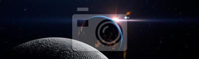 Fototapeta Luna eclipse in space