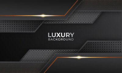 Fototapeta Luxurious modern background with gold color combination
