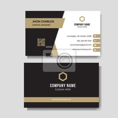 Fototapeta Luxury and elegant business card