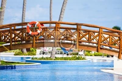 Fototapeta Luxury Resort Hotel Pool