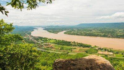 Fototapeta Mae Kong International River's view,Thailand and Loas