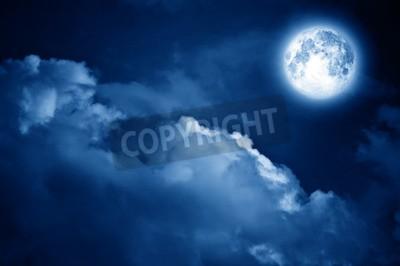 Fototapeta Magia Księżyc na nocnym niebie