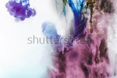 Fototapeta magic background with violet and purple smoky paint