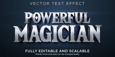 Fototapeta Magician editable text effect, historic and wizard text style