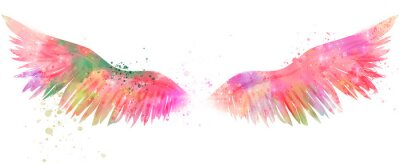 Fototapeta magiczne skrzydła akwareli
