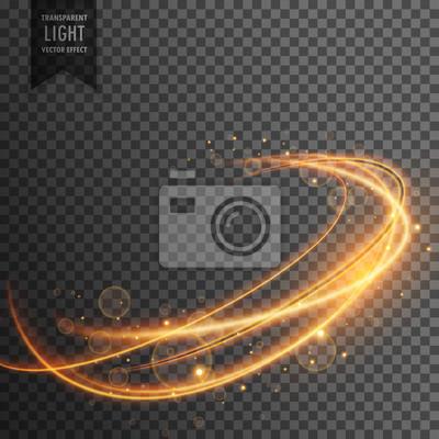 Fototapeta magiczne złote efekt świetlny na przezroczystym backgorund