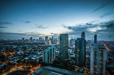 Fototapeta Makati skyline Filipiny