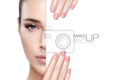 Fototapeta Makeup Beauty and Nail Art Concept