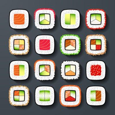 Fototapeta Maki rodzaje sushi