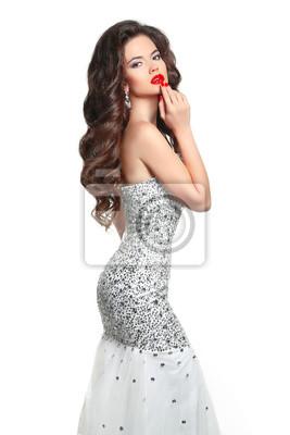 1849469af0 Fototapeta Makijaż. Fashion Girl modelu sukienki. Beauty Glamour kobieta w  stylu