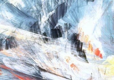 Malarstwo abstrakcyjne tekstury kolor. Jasne tło artystyczne. Nowoczesny wzór wielokolorowy dynamiczne. Fractal grafika dla kreatywnego projektowania graficznego