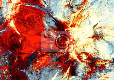 Malarstwo abstrakcyjne tekstury kolorów z efektem oświetlenia. Jasne tło artystyczne. Nowoczesny futurystyczny dynamiczny wzór. Fraktalna grafika do kreatywnego projektowania graficznego.