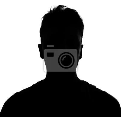 Fototapeta Male person silhouette