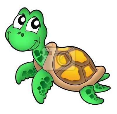 Fototapeta ma y w morski na wymiar projekt charakter zwierz cy - Clipart tortue ...
