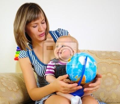 Fototapeta Mama i syn wspólnej zabawy