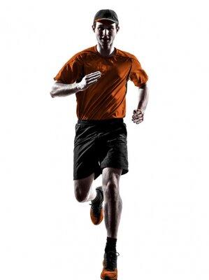 Fototapeta man runner jogger running jogging silhouette