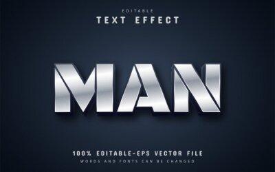 Fototapeta Man text, metalic style text effect