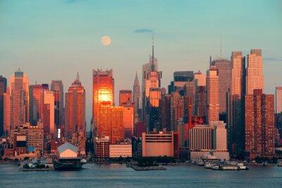 Fototapeta Manhattan Księżyc