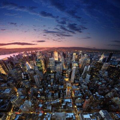 Fototapeta Manhattan o zachodzie słońca