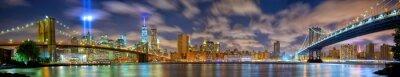 Fototapeta Manhattan panorama w pamięci 11 września w Nowym Jorku