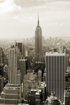 Fototapeta Manhattan panorama w sepia