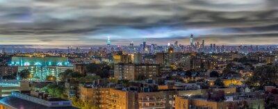Fototapeta Manhattan skyline w nocy