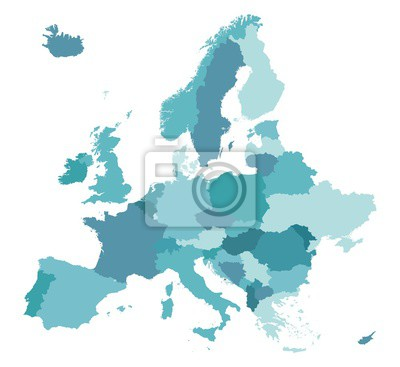 Fototapeta Map of Europe