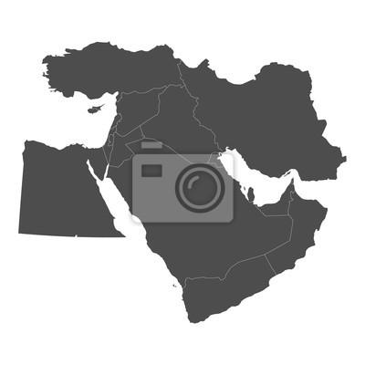 Fototapeta Map of Middle East