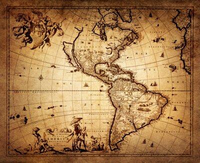 Mapa Ameryki 1690.