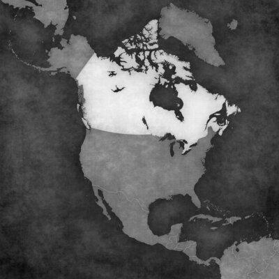 Fototapeta Mapa Ameryki Północnej - Kanada