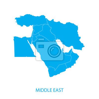 Fototapeta Mapa Bliskiego Wschodu