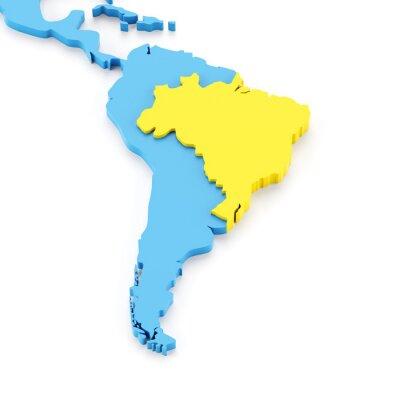 Fototapeta Mapa Brazylii