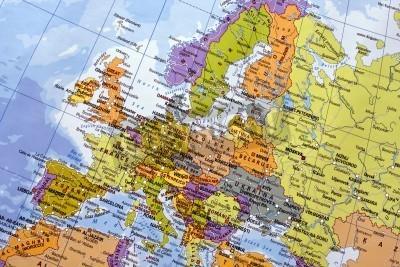 Fototapeta Mapa Europy.