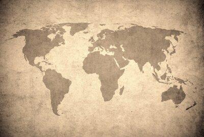 Fototapeta mapa grunge świata.