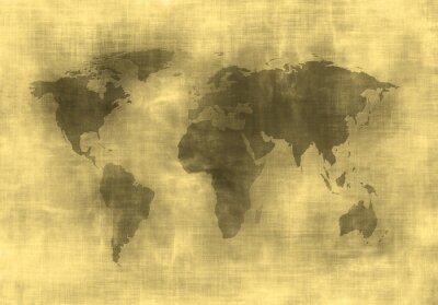 Fototapeta mapa grunge świata