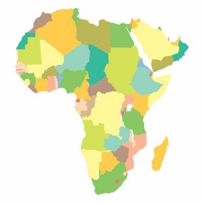 Fototapeta mapa polityczna Afryki
