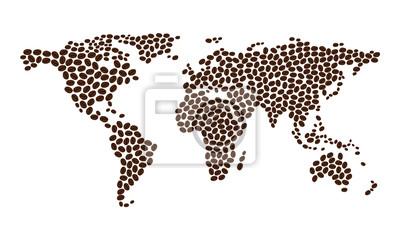 Mapa projektu kawa z ziaren kawy