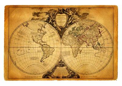 Fototapeta mapa świata 1752