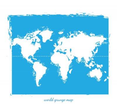 Fototapeta Mapa świata Akwarela, Ilustracja wektora