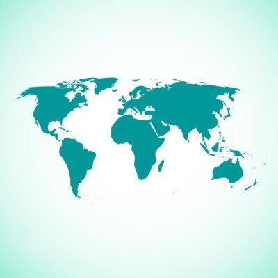 Fototapeta Mapa świata ilustracji zielony