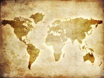 Fototapeta Mapa świata na papierze