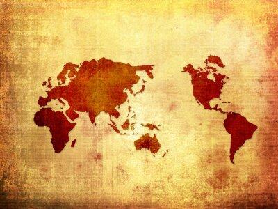 Fototapeta mapa świata Obraz rocznika