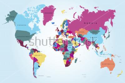 Fototapeta Mapa świata politycznego