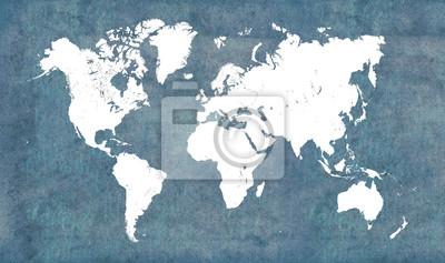 Fototapeta Mapa świata, vintage