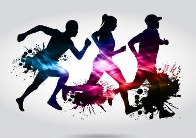 Fototapeta maraton biegaczy