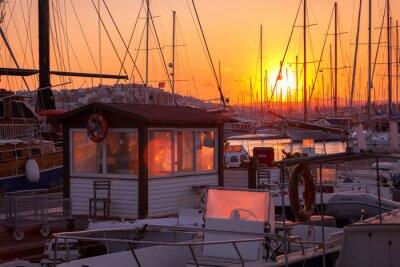 Fototapeta Marina Bodrum o zachodzie słońca