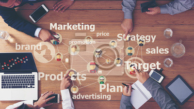 Fototapeta Marketing reklama komercyjna Plan Concept