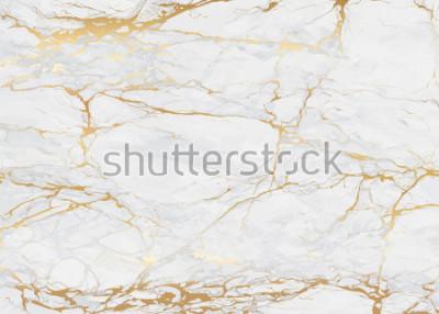 Fototapeta Marmur z złotą tekstury tła i ilustracją